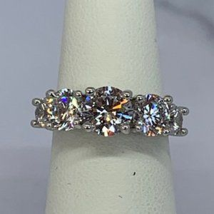 Gorgeous RS Covenant Sparkly CZ Wedding Band Ring